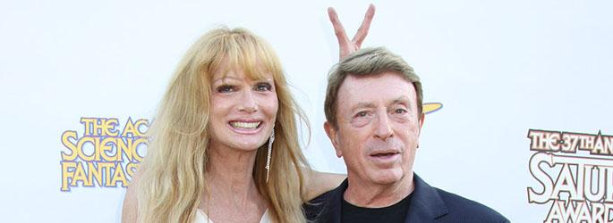 Larry Cohen and Laurene Landon