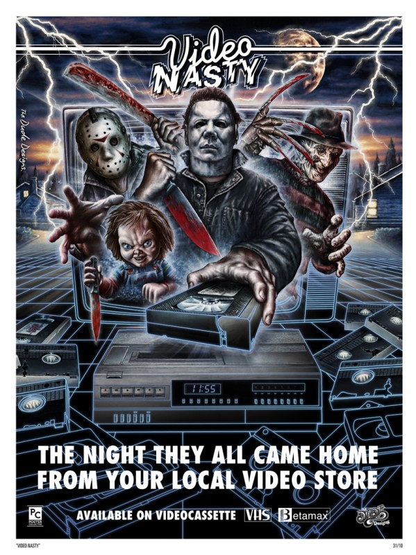 Toms awesome Video Nasty poster. You've nailed it again Mr. Hodge!