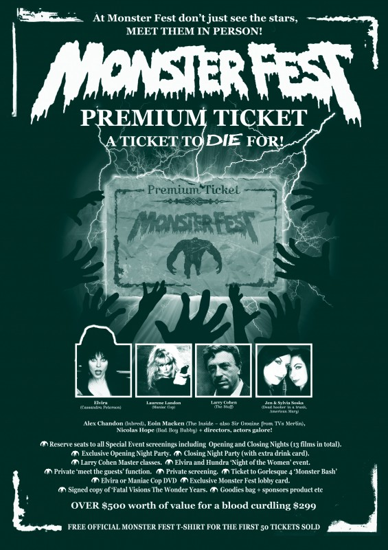 Monster Fest Premium Ticket - A ticket to Hell and back for serious genre fiends!