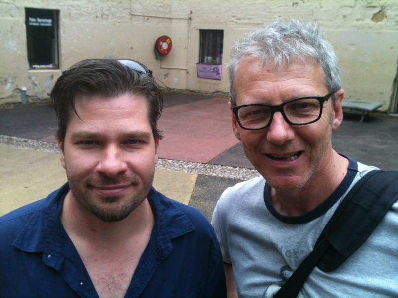 Steve Boyle & Michael Helms  in Tasmania @ The Stranger With My Face Horror Film Festival 2013