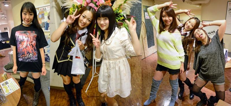 From L to R: Miho Wakabayashi, Ren Miyamura, Chika Hirako, Rir Koda, Ren, Riko Matsui.