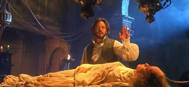 Raul Julia as Victor Frankenstein in Frankenstein Unbound (1990)