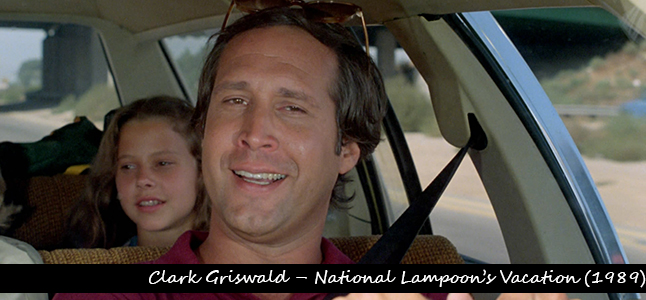 1Clark Griswald – National Lampoon's Vacation (1989)