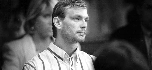 Jeffrey Dahmer facing trail for the rape, murder and dismemberment of 17 men and boys.