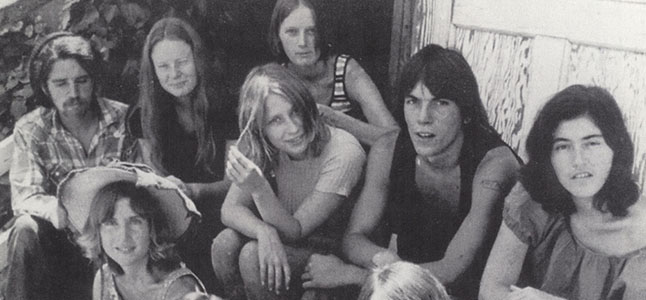 Vintage picture of some of the Manson Family.