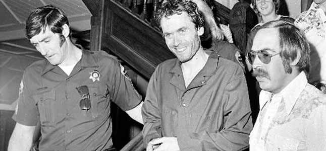 Charming until the end. - Ted Bundy being incarcerated.